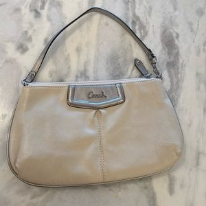 Coach wristlet ivory and Silver. Like New